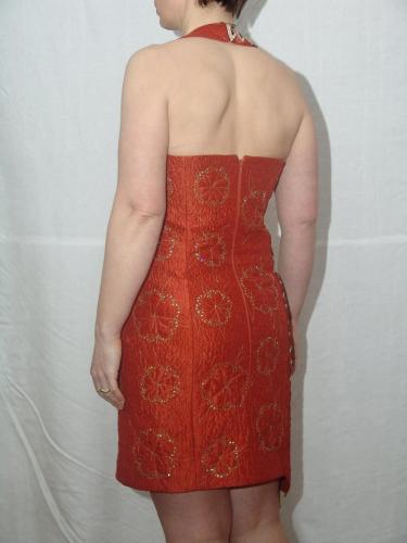 Chocolate Orange Cocktail dress back