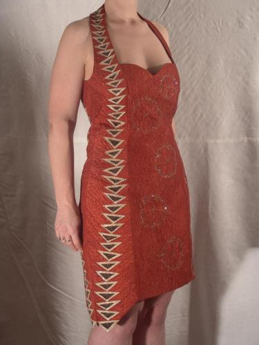 Chocolate Orange Cocktail dress front